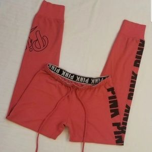 VS PINK SIDE LOGO, FITTED Pink & Black HW JOGGERS